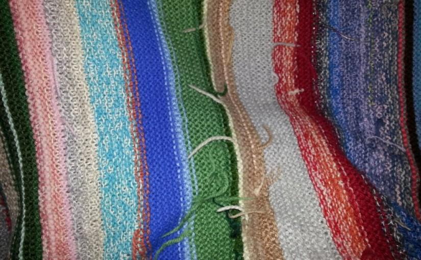 Ausschnitt einer gestrickten Decke